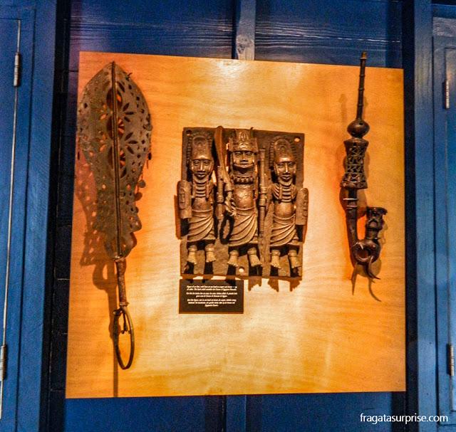 Arte Africana, esculturas em bronze do Reino do Benin, Museu Kura Hulanda, Curaçao