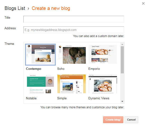 How to build a free blog used in blogger 2020