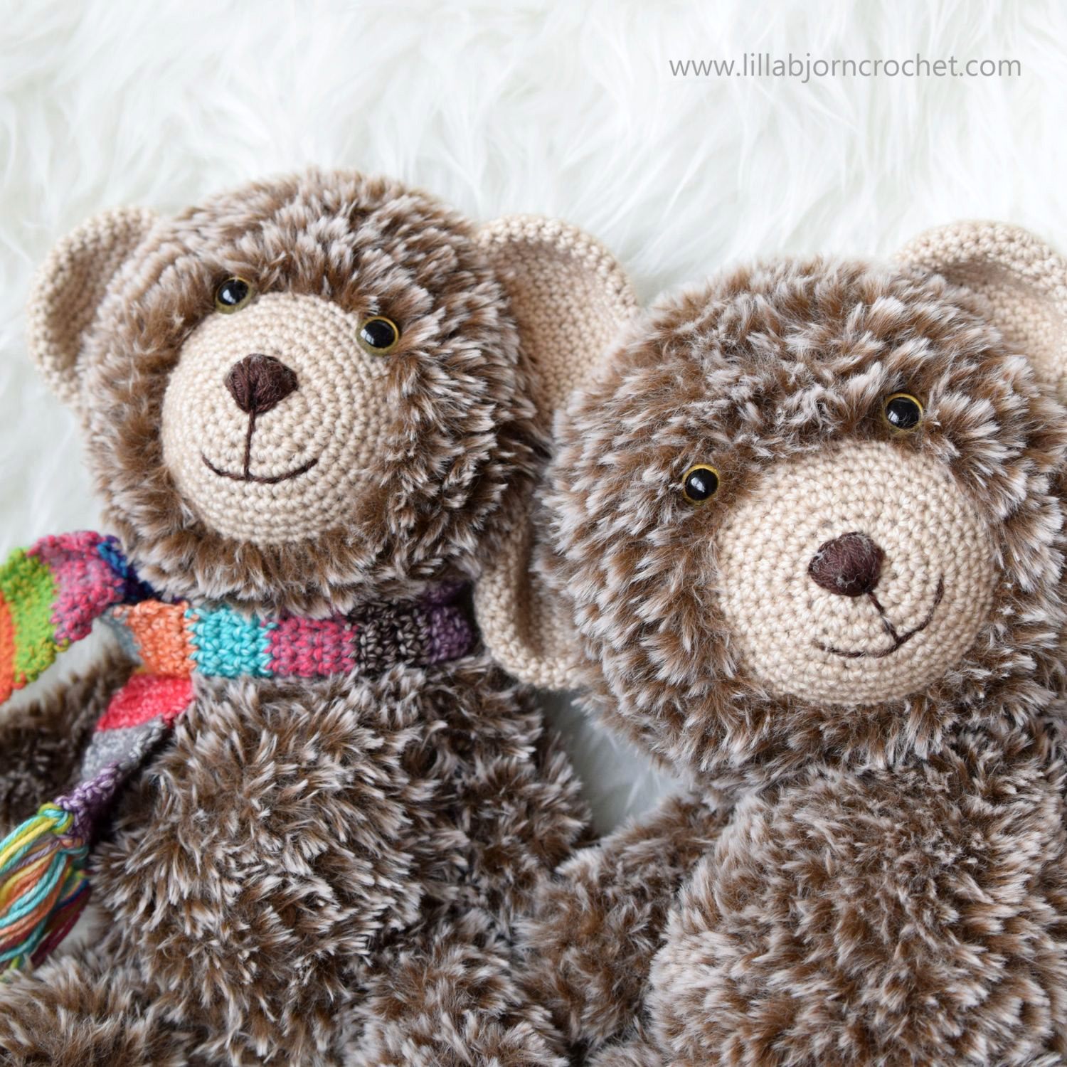 Amigurumi Doll Teddy Bear Security Blanket Crochet Pattern Knitted ... | 1500x1500