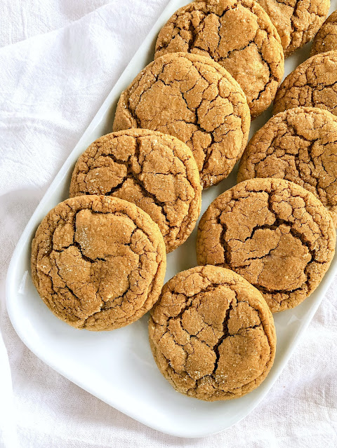 ginger cookies on a white plate