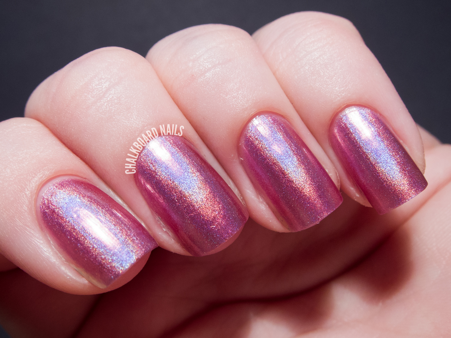 China Glaze Hologlam Collection Astro-Hot nail polish