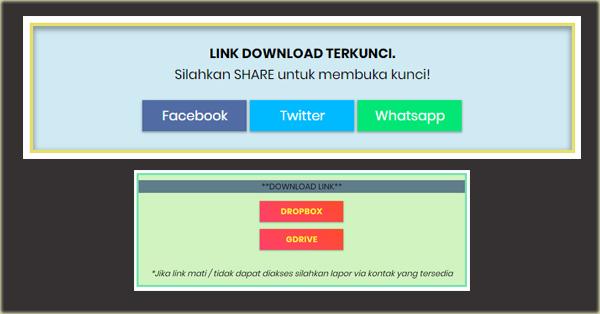 Cara Membuat Tombol Share untuk Membuka Link Download