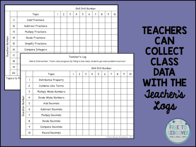 teachers can collect class data with the teachers logs