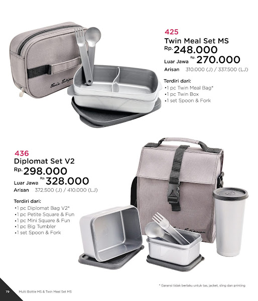 Diplomat Set, Twin Meal Set, Katalog Tulipware 2019