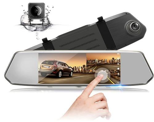 EYETOO 7 Inch Touch Screen FHD 1080P Mirror Dash Cam