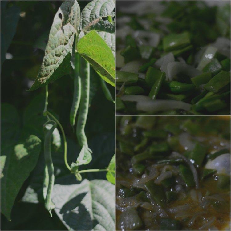 Maravillosa tortilla de judías verdes y cebollas 02