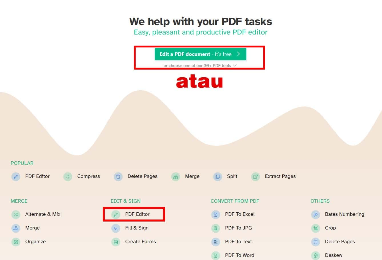 pilih PDF Editor
