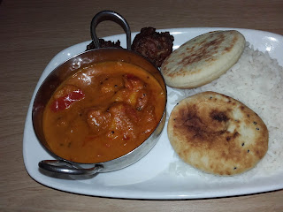 Excellent curry at the Travelodge (Gatwick)