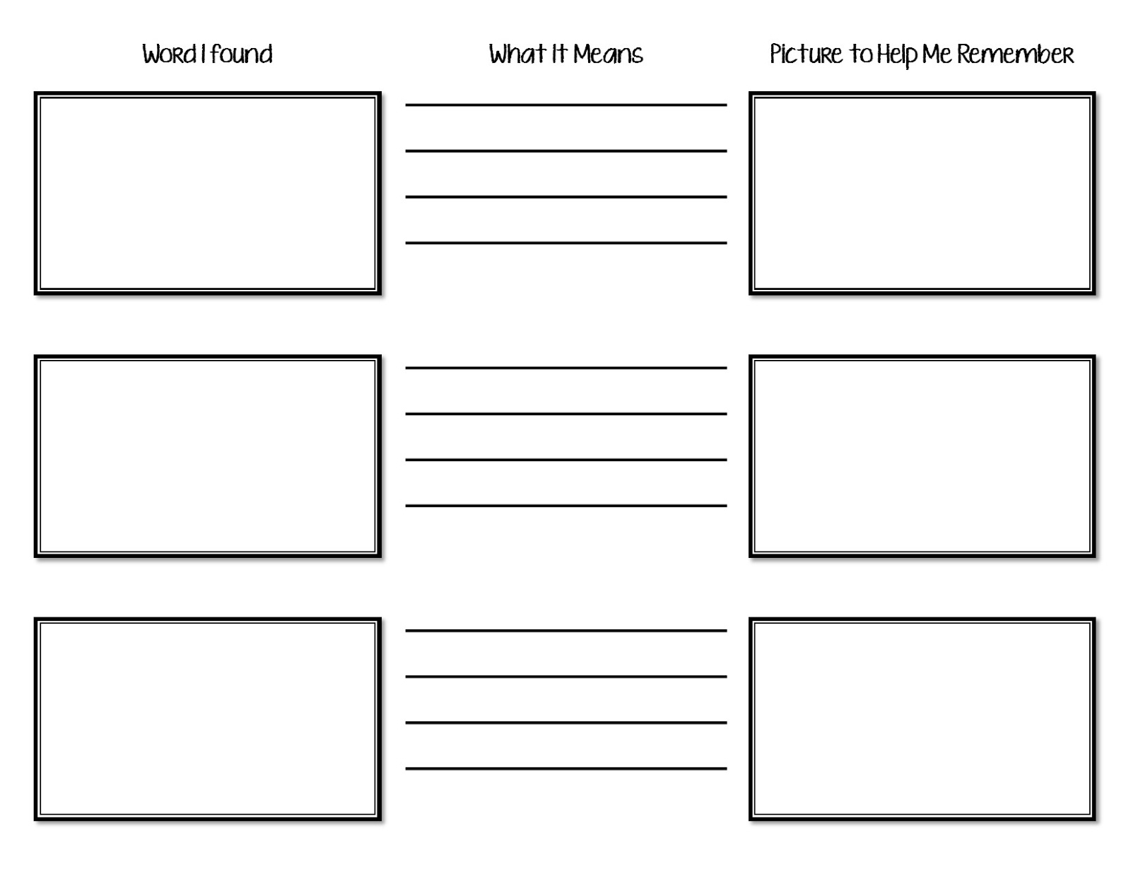 The Idea Cubby Vocabulary Tracker For Reading Groups