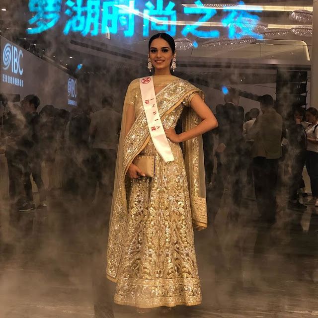 Manushi Chillar is making all hell break loose with her sinfully sexy appearance in this pic.