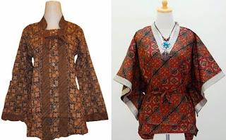 model baju batik atasan wanita gemuk untuk kerja
