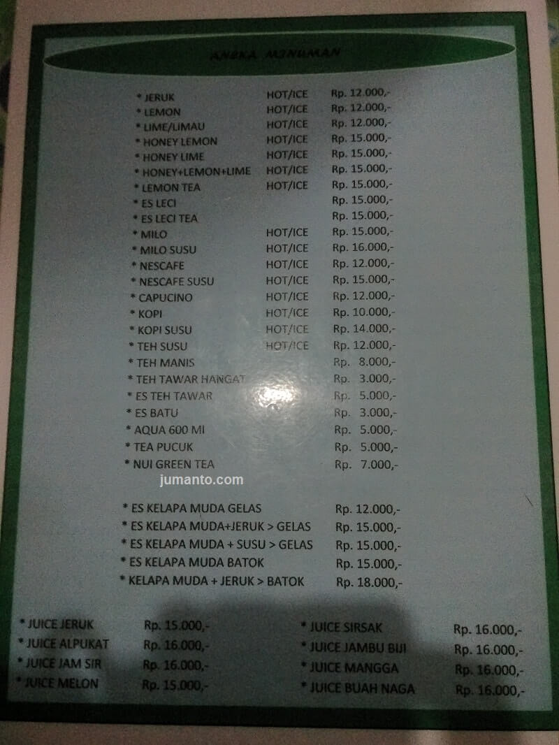 Harga Dan Menu Ikan Bakar Jingkrak Bandar Lampung (Kuliner Seafood)