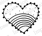 Rainbow Heart stamp from Impression Obsession