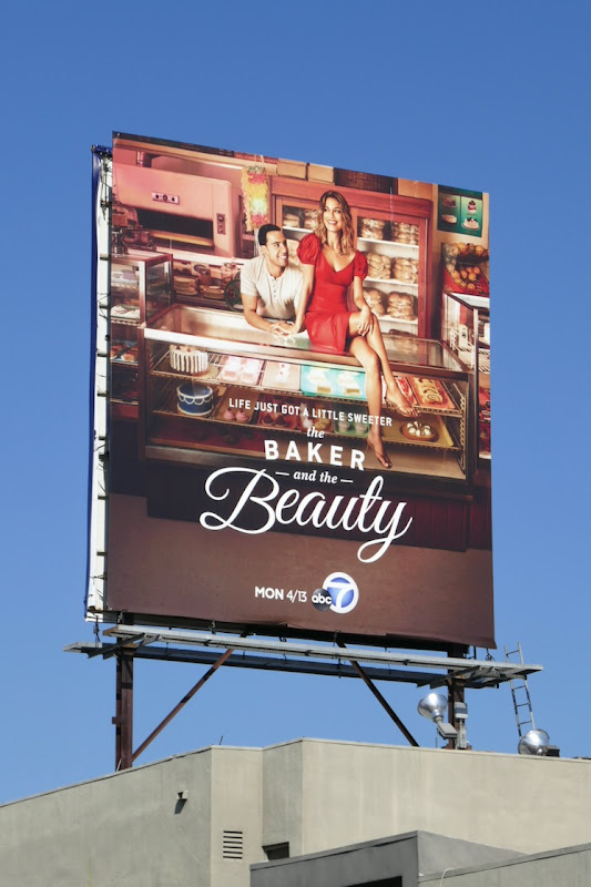 Baker and the Beauty series launch billboard