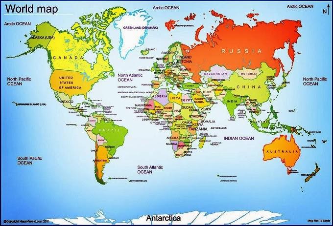 Mapa del mundo geograf a pol tica - Papel pintado mapa del mundo ...