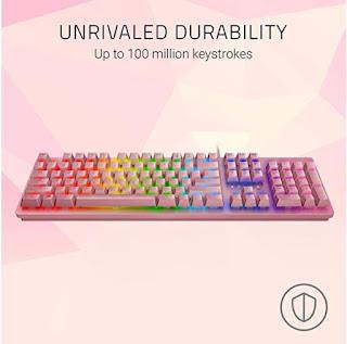 Pink Razer Keyboard