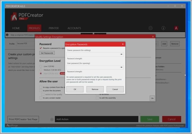PDFCreator : Μετατρέψτε, εκτυπώστε και κλειδώστε έγγραφα PDF