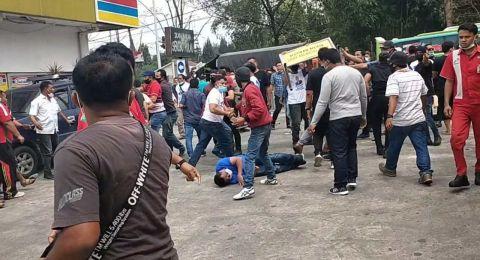Massa Berbaju Moeldoko Serang Warga dan Petugas SPBU di Deli Serdang
