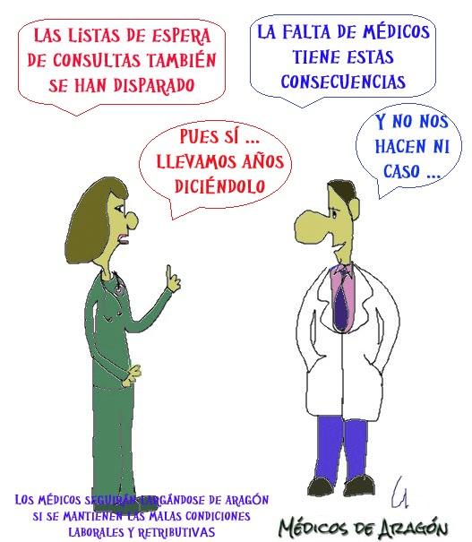 LA FALTA DE MÉDICOS PASA FACTURA (II) EN ARAGÓN: LA LISTA DE ESPERA DE CCEE SE DISPARA