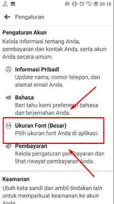 Cara Mengubah Ukuran Font di Facebook Lite Di Semua Android