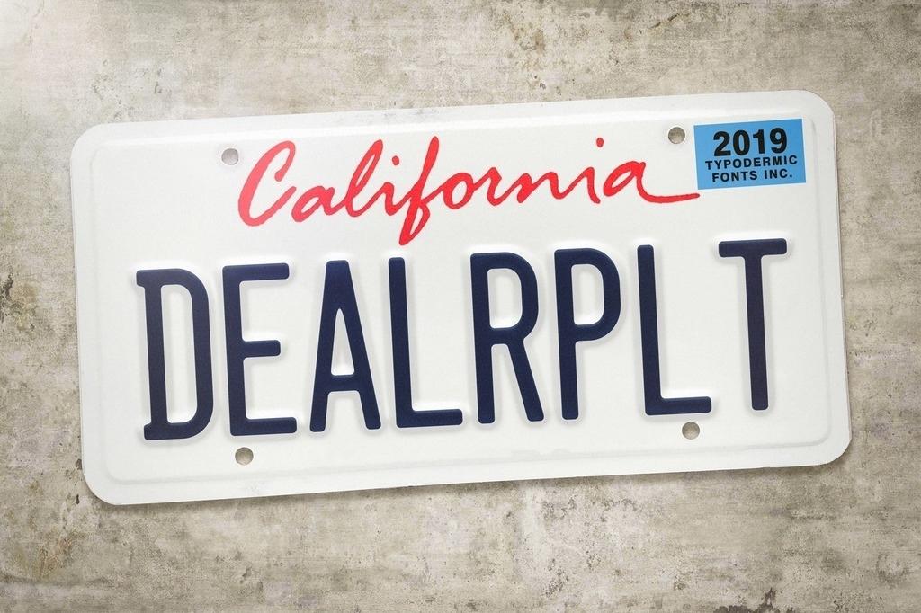 Шрифт Dealerplate