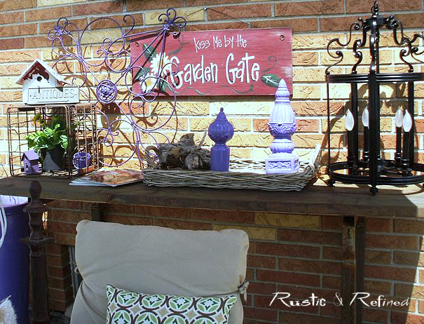 Summer time outdoor. Dining with family and friends, rustic style.