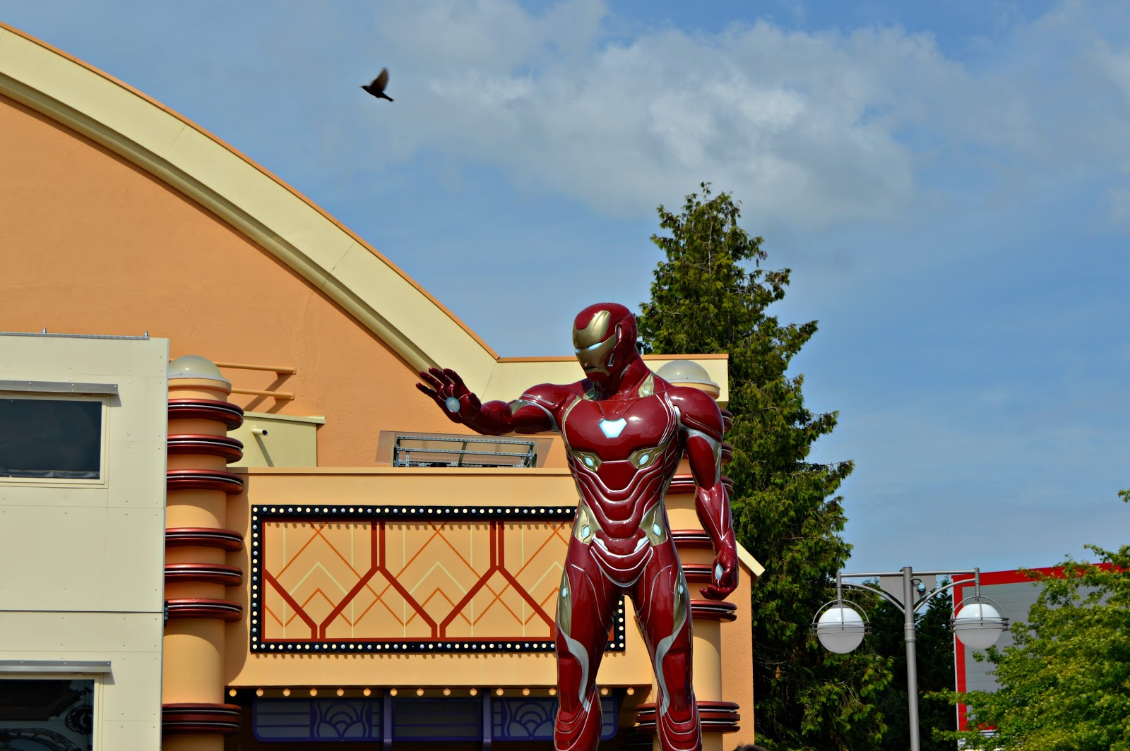 iron man statue in Disneyland Paris