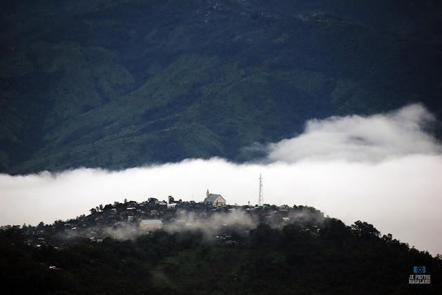 Church on a hill Mokokchung Nagaland