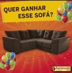 Promoção Esplanada Móveis Aniversário 2019 Concorra Sofá de Canto Mês Agosto