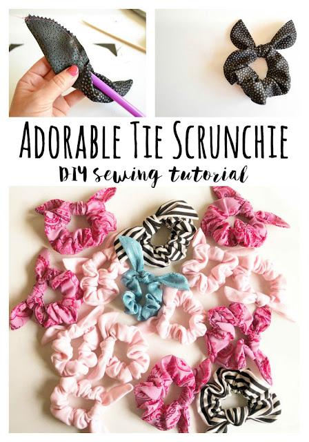 Tie scrunchie tutorial