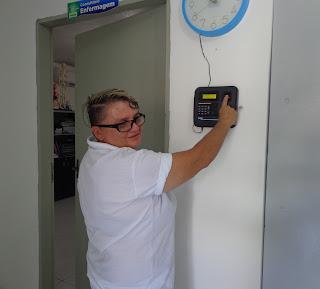 Ponto eletrônico é instalado na Unidade Básica de Saúde II em Baraúna