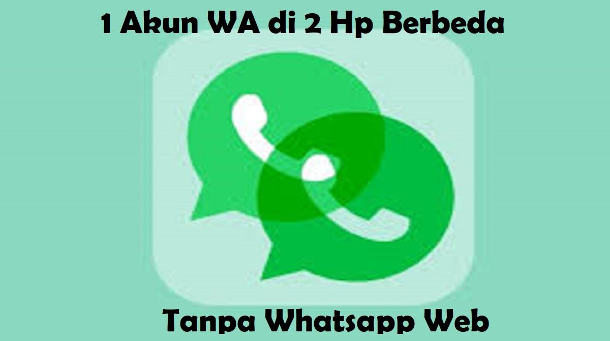 1 Akun WA di 2 Hp Berbeda Tanpa Whatsapp Web