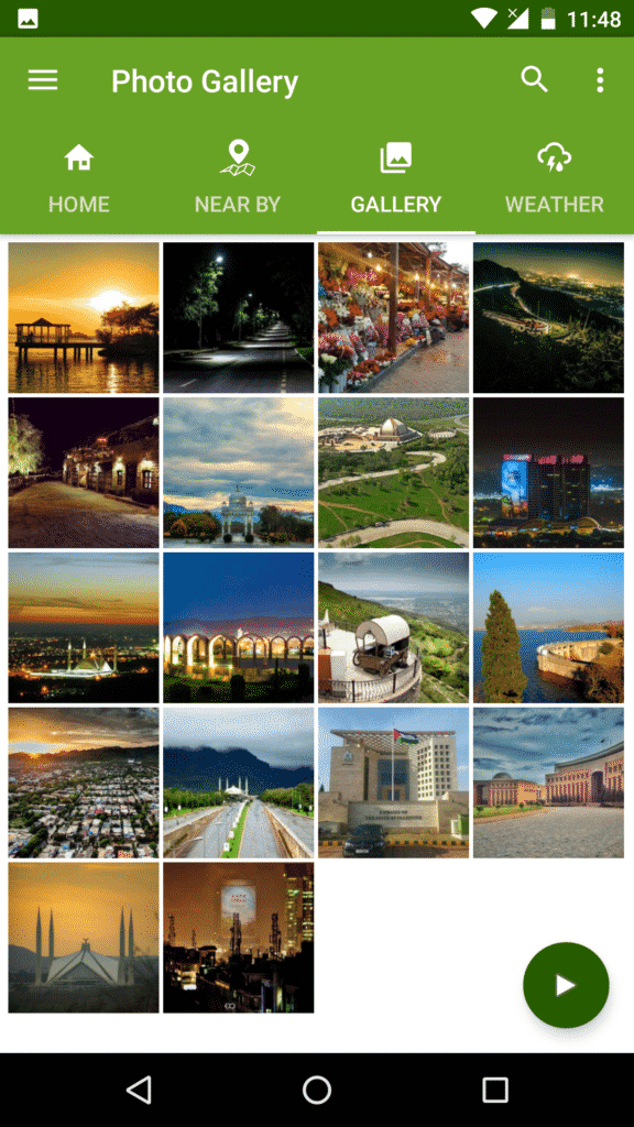 when you Click the Gallery where you can see different photos of Islamabad City.