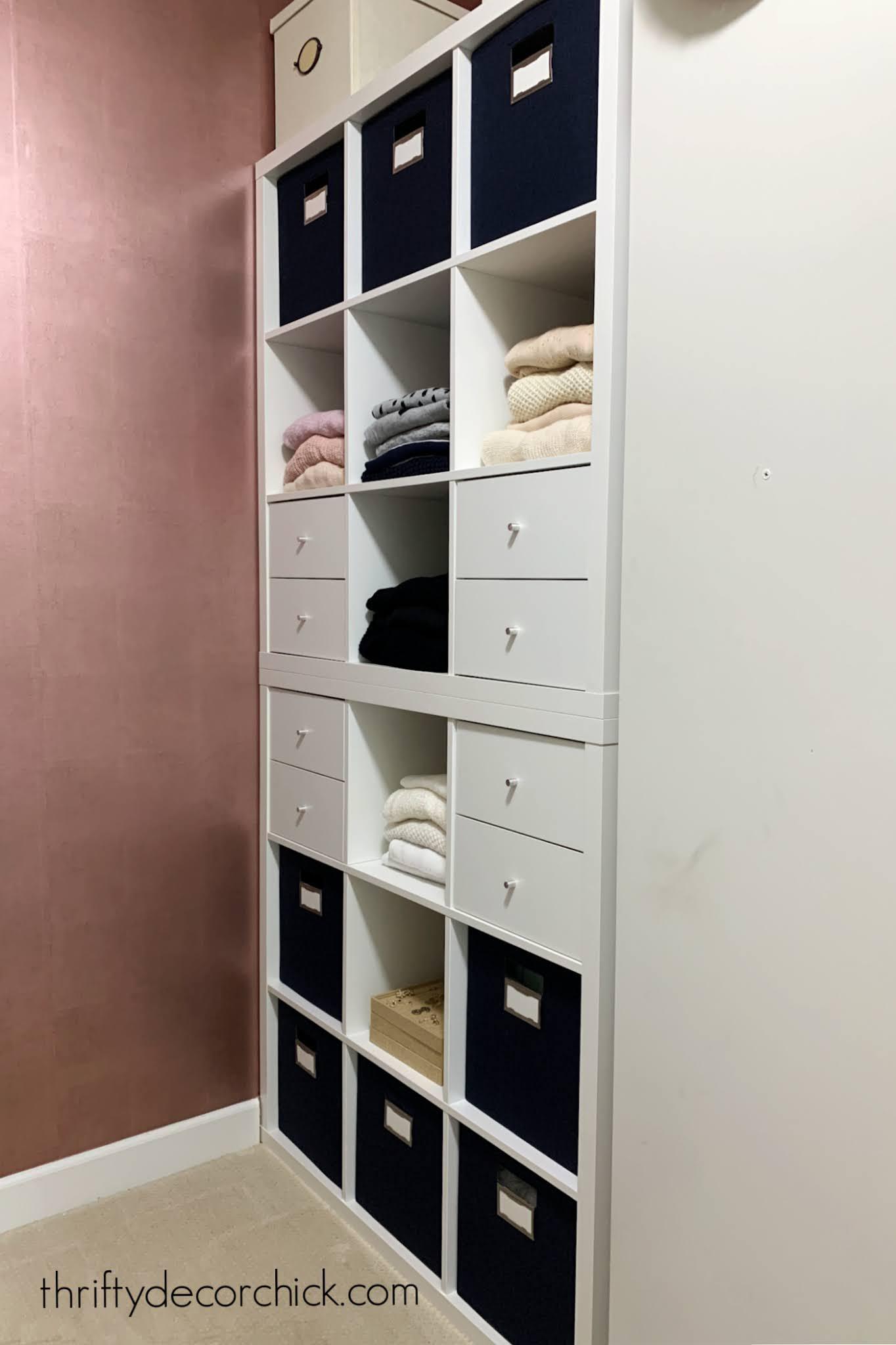 Kallax closet storage hack for clothes