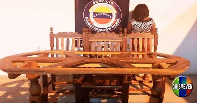 Detenida en Falcón por comprar una mesa y 4 sillas que habían sido robadas de otra vivienda