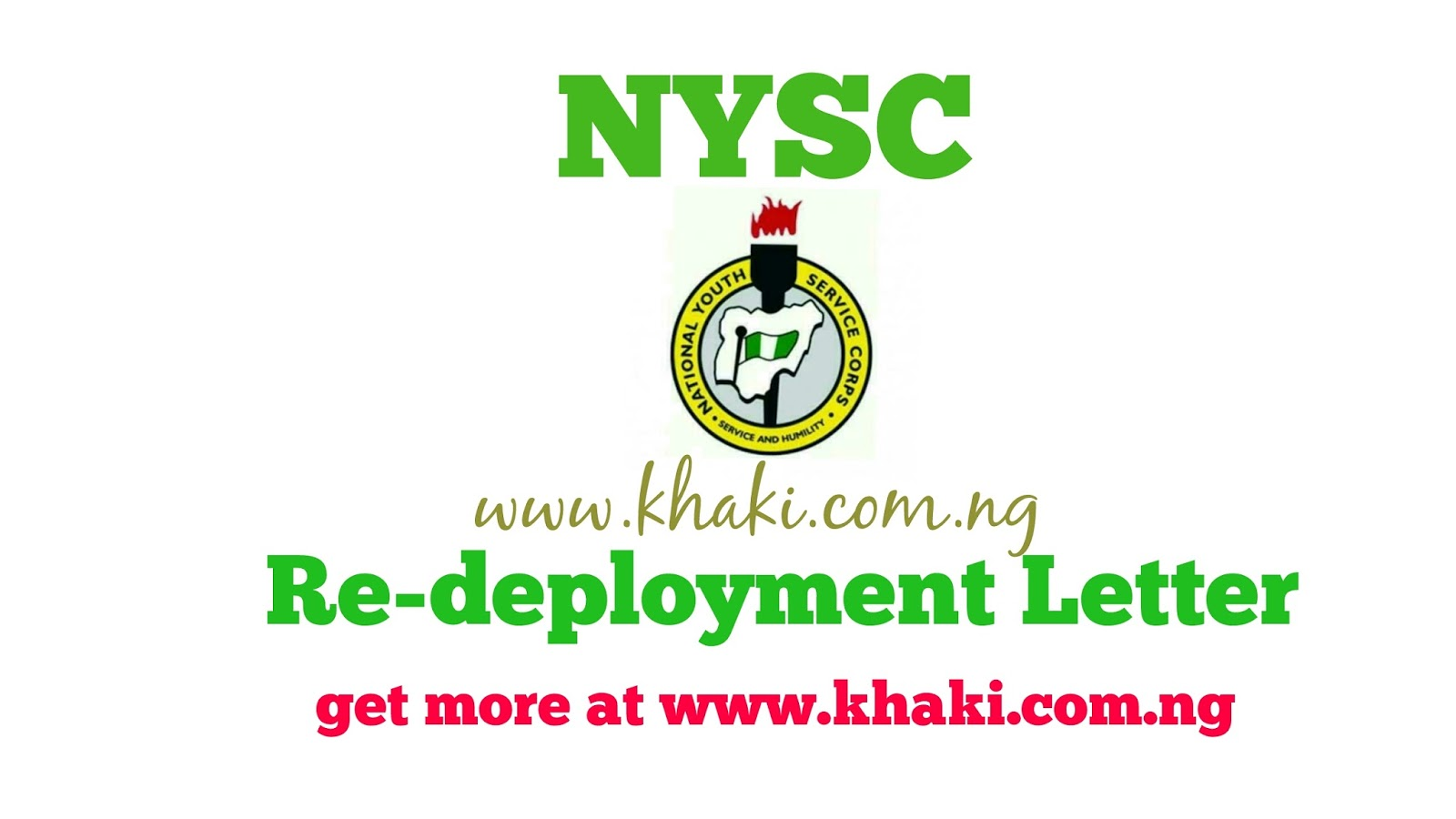 How to write the standard nysc redeployment letter thecheapjerseys Image collections