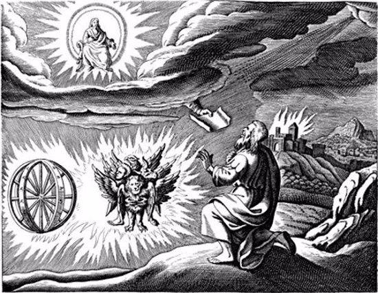 Visione del Carro Divino apparso al Profeta Ezechiele