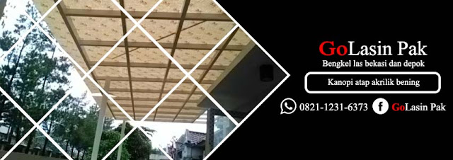 harga kanopi atap akrilik bening di depok