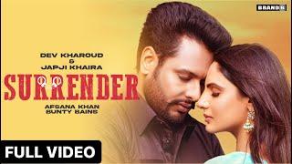 Surrender lyrics dev kharoud Japji khaira new punjabi song 2021