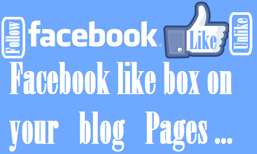 Facebook Like box on blog Pages