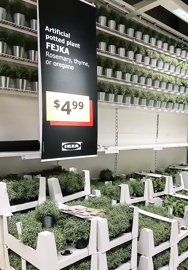 artificial plants from ikea, ikea, artificial plants