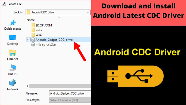 Download and Install Android Latest CDC Driver