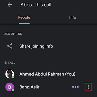 select a people on meeting