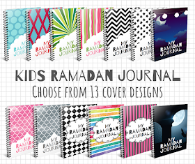 Ramadan Journal for kids - different covers to choose from