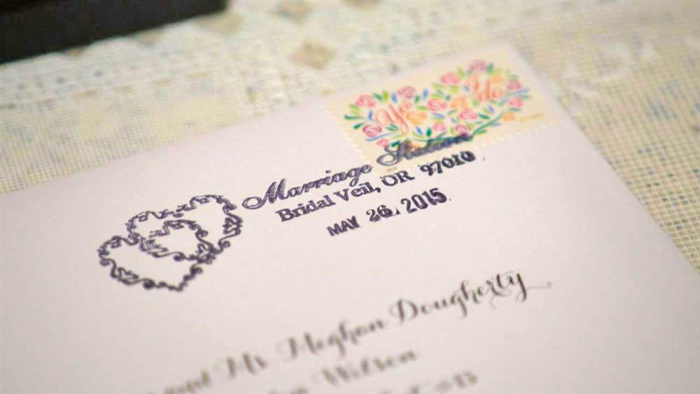 Bridal Veil Postage stamp