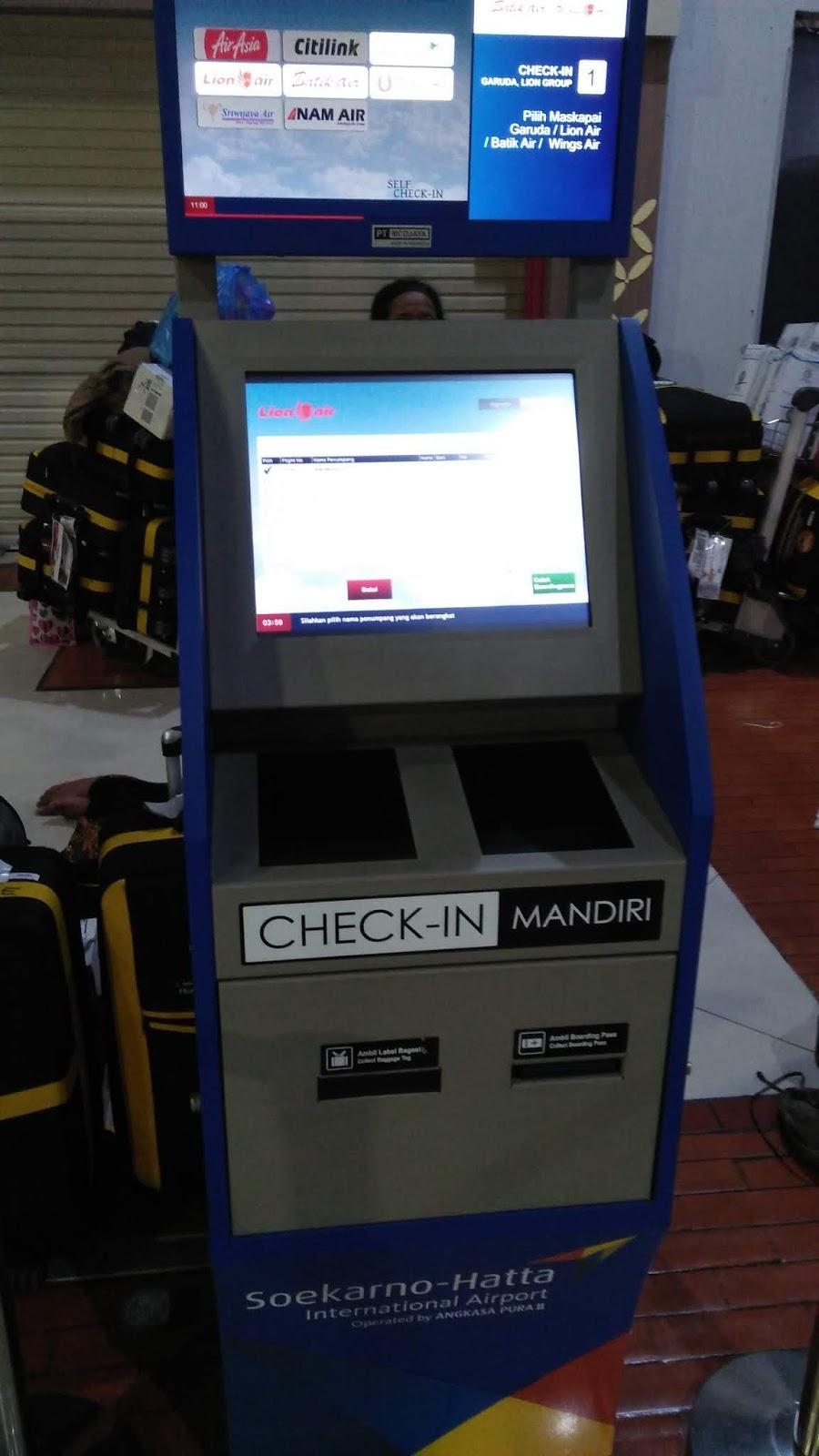 Cara Melakukan Check In Mandiri Cetak Boarding Pass Tanpa