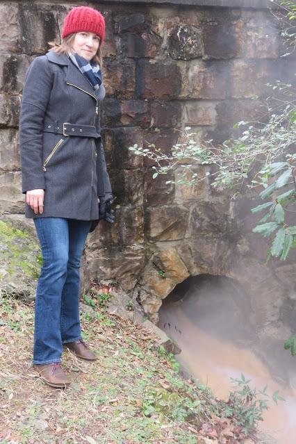 woman at hot spring