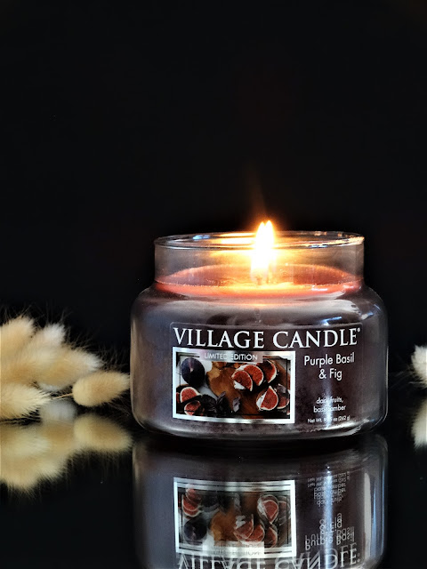 bougie Village Candle Purple Basil & Fig avis, bougie parfumée à la figue, bougie a la figue, bougie parfumée automne, fall scented candle
