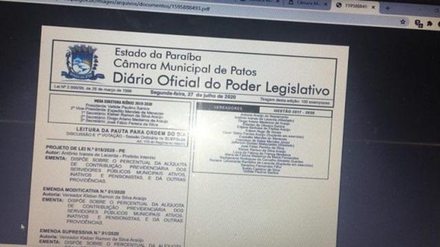 Sindicalista diz que aumento de 14% na previdência é covardia para com os servidores públicos municipais de Patos