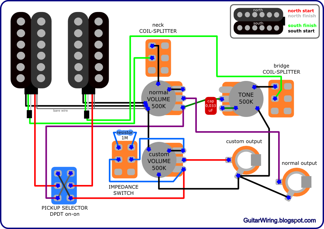 the guitar wiring blog - diagrams and tips: february 2011 gibson sg pickup wiring diagram